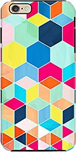 DailyObjects Bright Hexagon Pattern Tough Case For iPhone 6 Plus