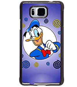 Printvisa donald duck in blue background Back Case Cover for Samsung Galaxy Alpha G850