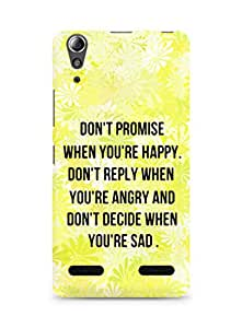 AMEZ dont promise when you are happy Back Cover For Lenovo A6000
