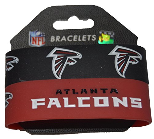 Nfl Atlanta Falcons Silicone Rubber Wrist Bands 2 Pack