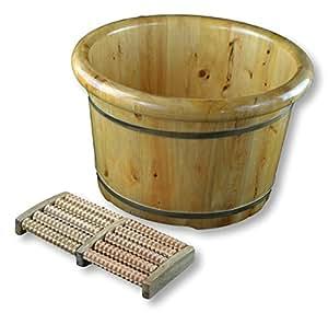 Amazon Com 16 Quot Solid Cedar Wood Foot Basin Tub Bucket