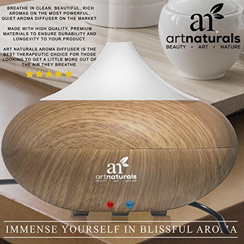 Art-Naturals-Essential-Oil-Diffuser-Electric-Cool-Mist-Aromatherapy-Humidifier-Aroma-Diffuser-Spa-Fragrance-For-The-Whole-House-Auto-Shut-off-7-Color-LED-Lights-Changing-2017-New-Model