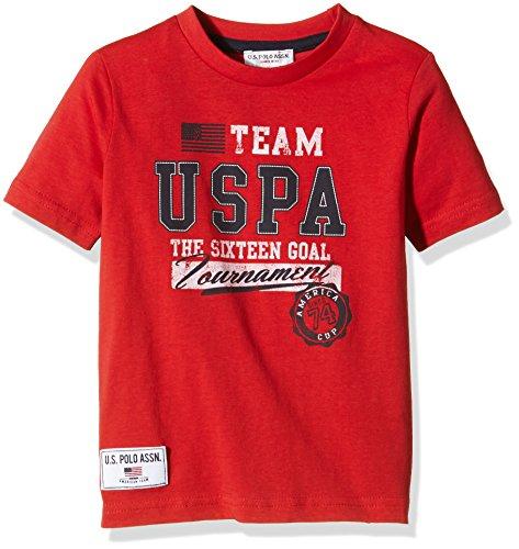 U.S. Polo Assn. - T-Shirt Maniche Corte Team USPA Ss, Unisex Bambino, Rosso (155), 6