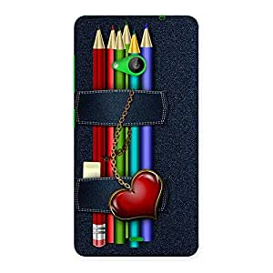 Impressive Denim Pencil Print Back Case Cover for Lumia 535