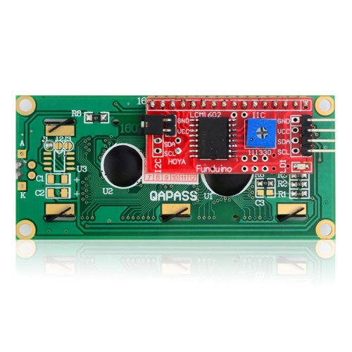 Iic/I2C Serial Interface Board Module Port For Arduino 1602 Lcd Display - Green 1Package