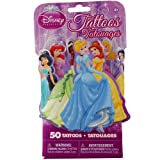 Disney Princesses 3D Novelty Pack Of 50 Temporary Tattoos