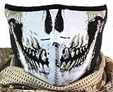 【恐怖のスカルマスク フェイスマスク】 バイク ライダースノボー サバゲー 防寒用 ドクロ 骸骨 スケルトン 柄  タスクフォース  ゴーストモダンウォー Y's factoryオリジナル商品 全4種 (A柄)
