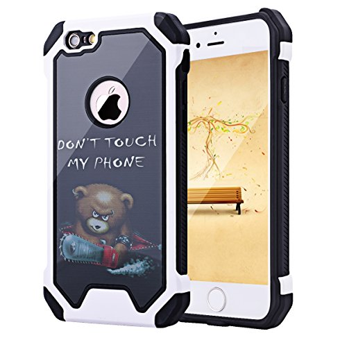 iPhone 6 Case, iPhone 6S Case, SmartLegend Hybrid High Impact Armor Defender Protective Case Heavy Duty [Anti-slip] Dual Layer Air Cushion Technology Bumper Case for iPhone 6/6S 4.7