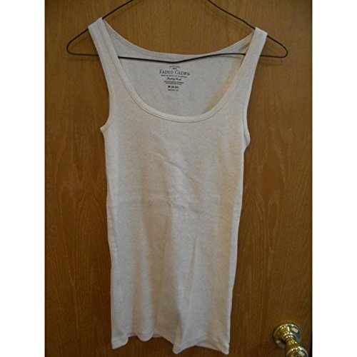 Faded Glory Women's Basic Rib Tank, Wheat Heather, Medium (8-10) (Faded Glory Tops compare prices)