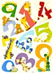 LARGE 0 to 9 CARTOON ANIMAL NUMBERS 1...