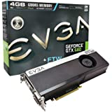 EVGA GeForce GTX 680 FTW 4096MB GDDR5, DVI, DVI-D, HDMI, DisplayPort, 4-way SLI Ready Graphics Card (04G-P4-3687-KR) Graphics Cards 04G-P4-3687-KR