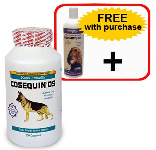 Dog constipation cosequin ds 250 caps dermaquin omega for Fish oil capsules for dogs