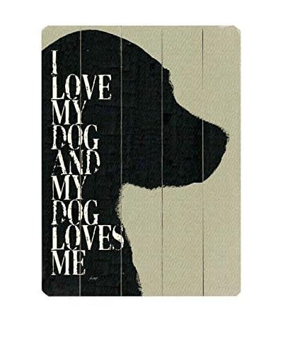 Artehouse I Love My Dog Wood Wall Décor