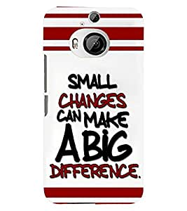 printtech Change Quote Back Case Cover for HTC One M9+::HTC One M9 Plus