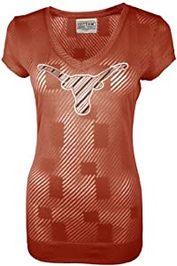 Buy NCAA Texas Longhorns Ladies Championship Tunic Tee, Texas Orange by SECTION 101 Majestic