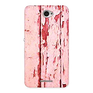 Impressive Ripped Wood Print Back Case Cover for Sony Xperia E4