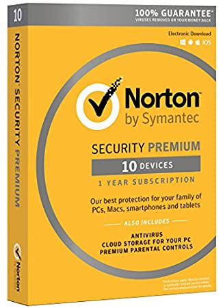 Norton Security Premium - 10 Devices | PC/Mac Online Code