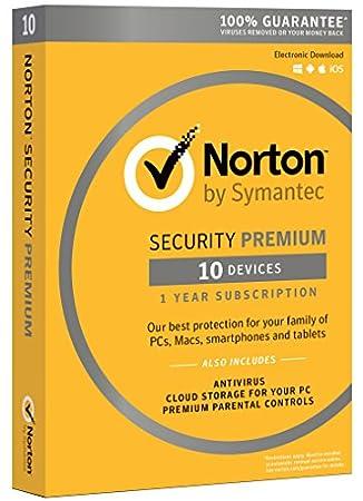 Norton Security Premium - 10 Devices | PC/Mac Online Code