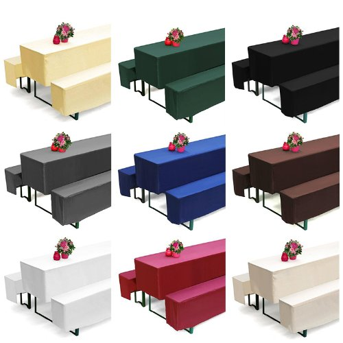 hussen set f r bierzeltgarnitur l nge 180 cm 1x biertischhusse 180x50 cm 2x bierbankhusse. Black Bedroom Furniture Sets. Home Design Ideas