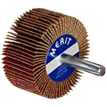 Merit Flexible Mini Grind-O-Flex Abrasive Flap Wheel, Round Shank, Aluminum Oxide