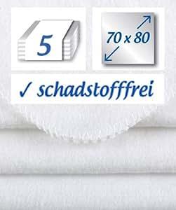 5 Stück Molton Flanellwindeln 70x80cm Baumwolle- das Original - der Klassiker: rezzu.®