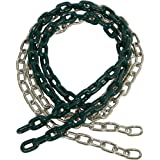 8 1/2 FT COATED CHAIN per pair, Green With SSS logo Sticker