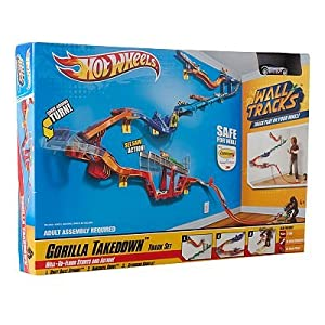 Hot wheels wall tracks gorilla takedown track set hot for Hot wheels wall tracks template