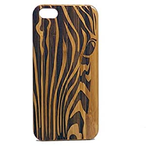 Zebra iPhone 5 5S Case. EcoFriendly Bamboo Wood Cover. African Animal Print. Stripe Pattern. Equine Spirit Animal Totem Guardian