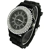 WLM New Classic Gel Silicone Crystal Men Lady Jelly Watch Gifts Stylish Fashion Luxury
