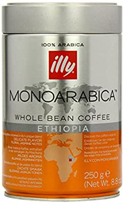 Illy Monoarabica Ethiopian Coffee Beans 250 g (Pack of 2)