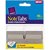 Avery NoteTabs, 2 x 1.5 Inches, Taupe, 40 per pack (16291)