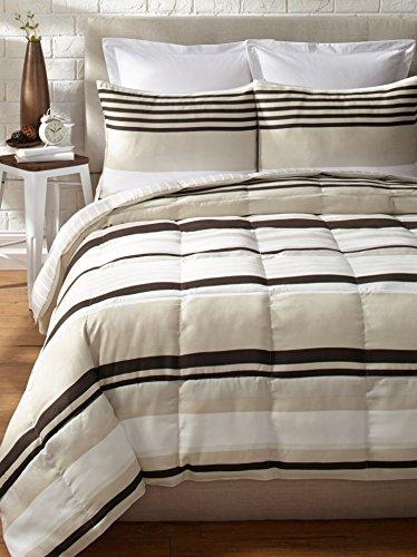 Epic  Detail shop Eddie Bauer Redmond Stripe Reversible Down Alternative Comforter Set King Brown