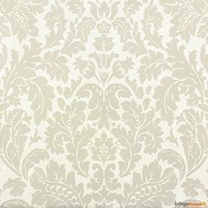 Rasch bestsellers baroque flock 545623 wallpaper cream metallic diy tools - Cream flock wallpaper ...