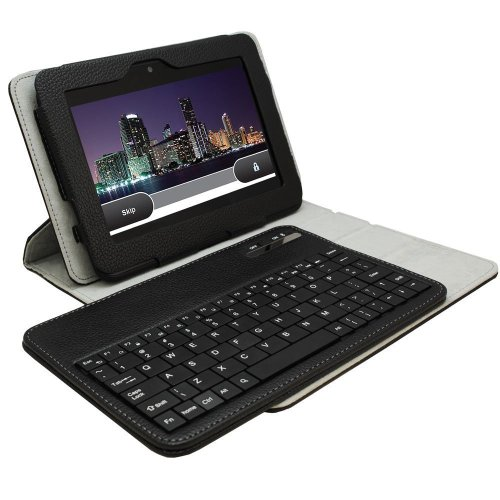 Khomo ® Black 360 Degree Rotating Stand Case With Detachable Bluetooth Keyboard For Amazon Kindle Fire Hdx 8.9'