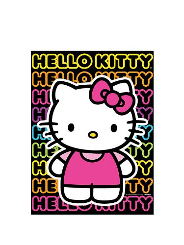 Hello Kitty 'Neon Tween' Paper Tablecover (1ct)
