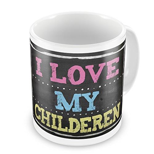 Coffee Mug Chalkboard With I Love My Children - Neonblond