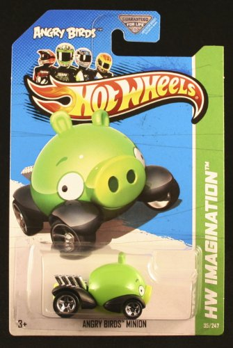 2012 Hot Wheels Hw Imagination Angry Birds - Minion Pig - 1