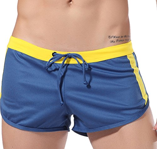 Mens-Draw-String-Sports-Athletic-Shorts