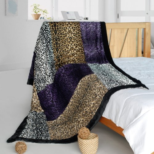 Onitiva - [Minimalism] Patchwork Throw Blanket (61 By 86.6 Inches)