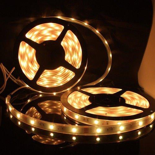 Non-Waterproof 12V Flexible Led Strip Lights Led Tape Warm White 60 Units/M 3528 Leds Light Strips Pack Of 20M
