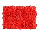 Ubesta Fashion recién nacido 3d fotografía Photo Props rosas fondo manta rug-red