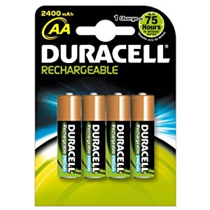 duracell pile rechargeable aa x 4 2400 mah lr6. Black Bedroom Furniture Sets. Home Design Ideas