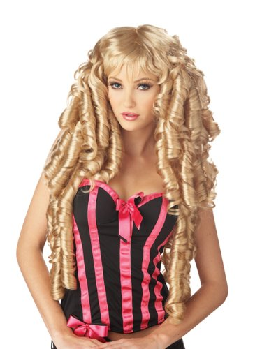 Long Blonde Wig Curly Ringlet Wig Storybook Fairytale Princess Costume Wig