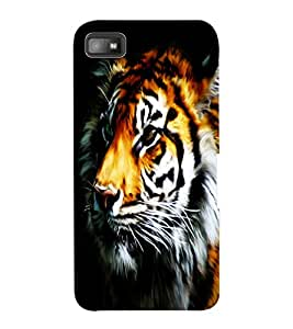 ColourCraft Tiger Look Design Back Case Cover for BLACKBERRY Z10