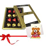 Colorful Treat Of Wrapped Chocolates With Sorry Card - Chocholik Luxury Chocolates