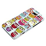 DeinPhone Small Coloured Owls Hardcase Cover Bumper for Motorola Razr I - Blue