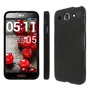 MPERO Collection Full Coverage Hard Rubberized Black Case for LG Optimus G Pro