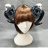 Skull Horn Hair Clip Gothic Lolita Devil Antler Rave Cosplay Woodland Karajuku Hime Mori Girl Halloween Gift Lolita Kangsanli