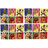 """THE MUPPETS STICKERS - The Muppets Birthday Party Favor Sticker Set Consisting of 45 Stickers Featuring 6 Different Designs Measuring 2.5"""" Per Sticker Featuring Kermit the Frog, Miss Piggy, Gonzo, Fozzie and Animal"""