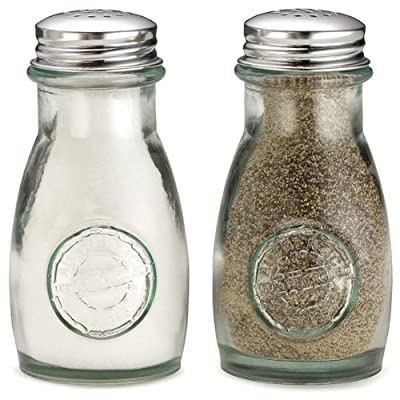 Authentic Recycled Salt & Pepper Shakers - Set of 2 | Salt & Pepper Pots from drinkstuff